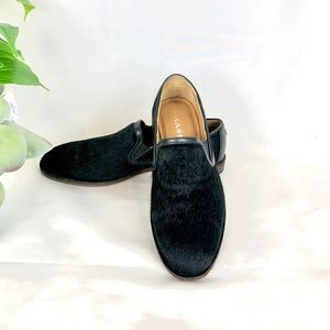 Trask Women's Black Calf Hair Loafers Flats New